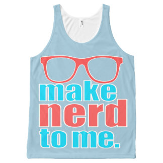 Make Nerd to Me All-Over-Print Tank Top