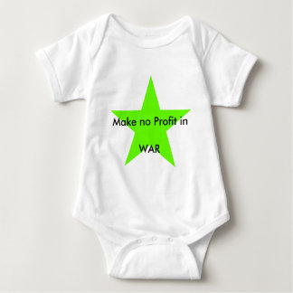 Make no Profit in WAR jGibney The MUSEUM Zazzle Gi Baby Bodysuit