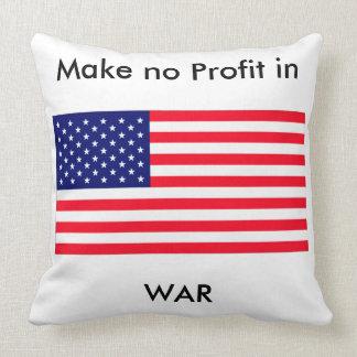 Make no Profit in WAR jGibney The MUSEUM Zazzle Gi Throw Pillows