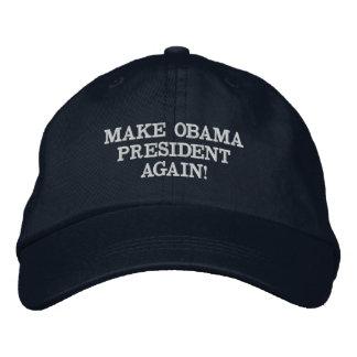 MAKE OBAMA PRESIDENT AGAIN! EMBROIDERED HAT