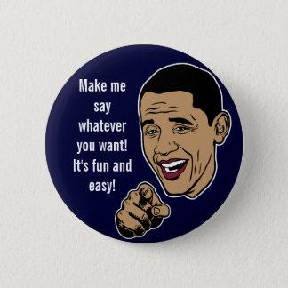 Make Obama Talk Customizable Button