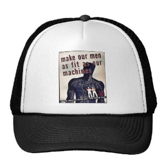 Make Our Men As Fit As Our Machines Mesh Hat