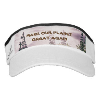 MAKE OUR PLANET GREAT AGAIN KNIT VISOR