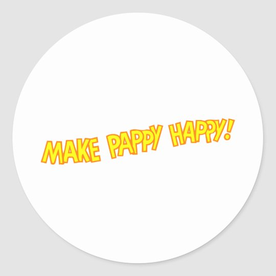 make pappy happy classic round sticker