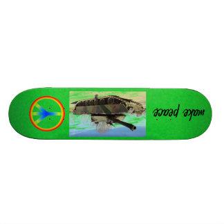 MAKE PEACE CUSTOM SKATE BOARD
