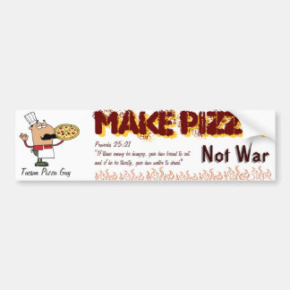 make pizza bumper sticker