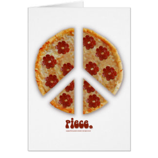 """""""Make Pizza, Not War"""" Greeting Cards"""