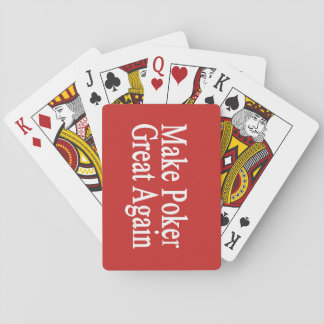 Make Poker Great Again Playing Cards