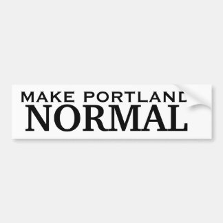 Make Portland NORMAL Bumper Sticker