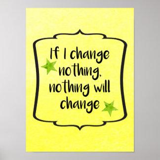 Make Positive Change Motivation Inspiration Quote Poster
