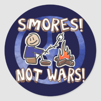 Make S'mores Not Wars Stickers