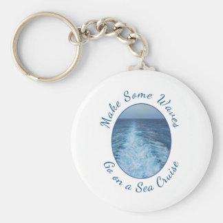 Make Some Waves Sea Cruise Basic Round Button Keychain
