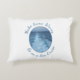 Make Some Waves Sea Cruise Decorative Pillow