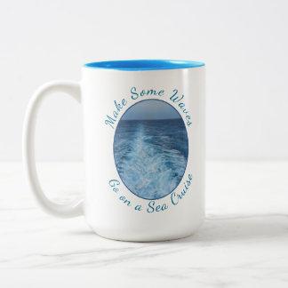 Make Some Waves Sea Cruise Two-Tone Coffee Mug