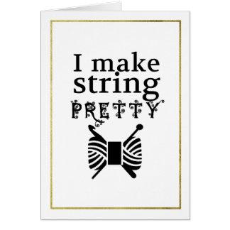 Make String Pretty Faux Gold Border Crafts Card