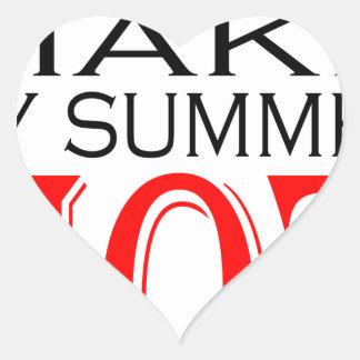 make summer hot flirt teenage memory hot black bea heart sticker