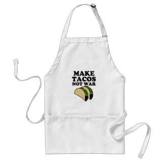 Make Tacos Not War Funny Apron