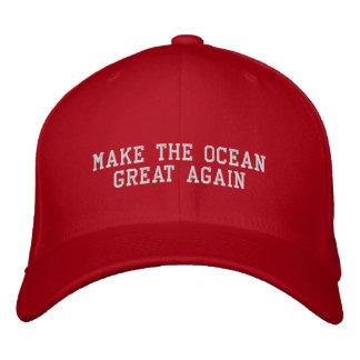Make The Ocean Great Again Embroidered Baseball Caps
