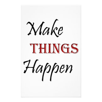 Make Things Happen Customized Stationery