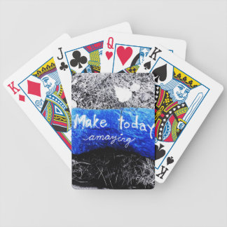 Make Today Amazing Bicycle Playing Cards