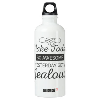 Make today awesome motivational quote water bottle