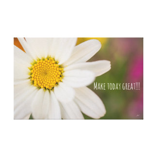 Make today great colorful daisy canvas wall art