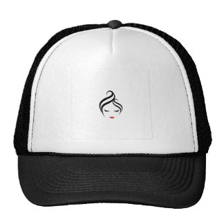 Make up and hairstyle trucker hat