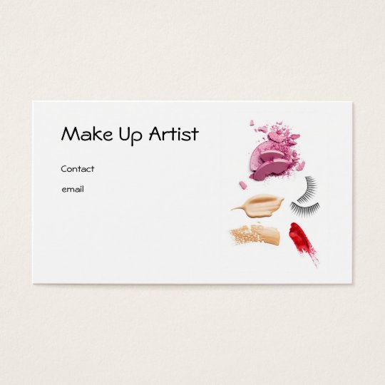 Make Up Artist Business Card