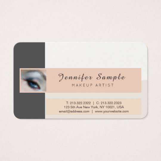 Make up Artist Cosmetologist Premium Silk Finish Business Card