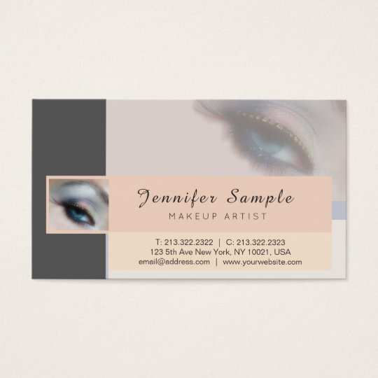 Make up Artist Cosmetologist Silk Finish Luxury Business Card
