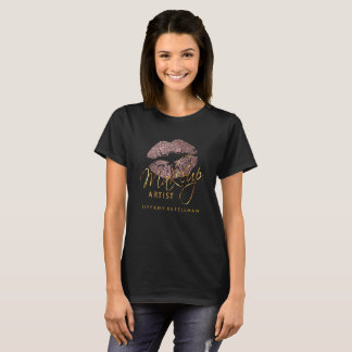 Make Up Artist Dusty Rose Glitter Lips T-Shirt