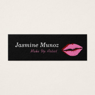 Make Up Artist LipStick Kiss Mini Business Card