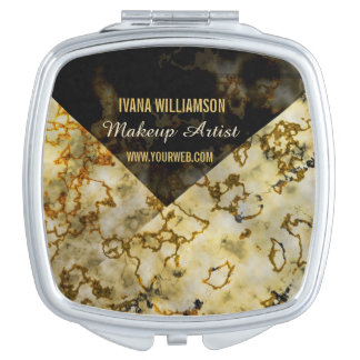Make UP Artist Luxurious Marbleized Cracked Gold Vanity Mirror