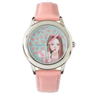 Make up Jennie leather strap watch