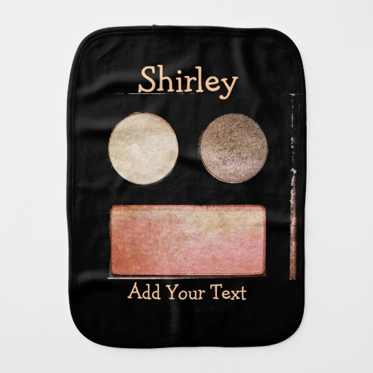 Make-Up Palette-Face by Shirley Taylor Burp Cloth