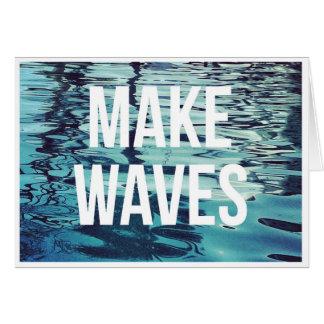 Make Waves Blank Note Card