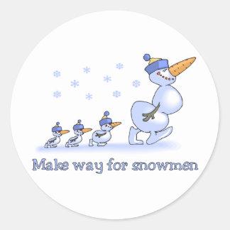 Make Way for Snowmen stickers