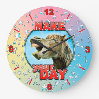 Make your Day Large Clock