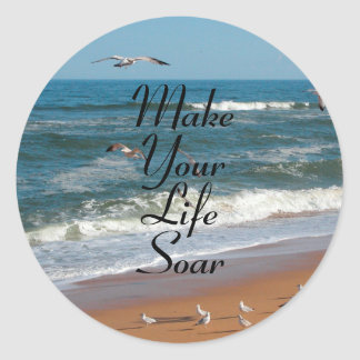 Make Your Life Soar Classic Round Sticker