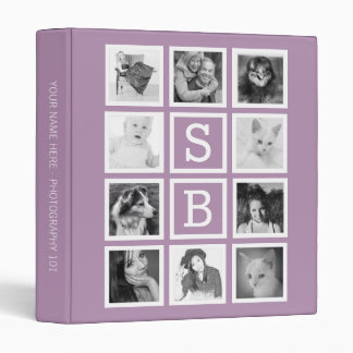 Make Your Own 10 Instagram Photos with Initials Binders