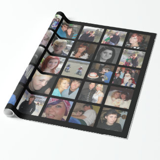 Make Your Own 30 Picture Instagram Photo Collage Wrapping Paper