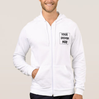 Make Your Own California Fleece White Zip Hoodie