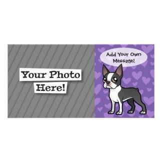 Make Your Own Cartoon Pet Customized Photo Card