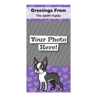 Make Your Own Cartoon Pet Photo Greeting Card