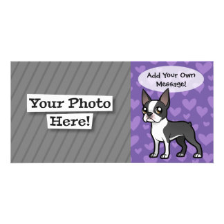 Make Your Own Cartoon Pet Custom Photo Card
