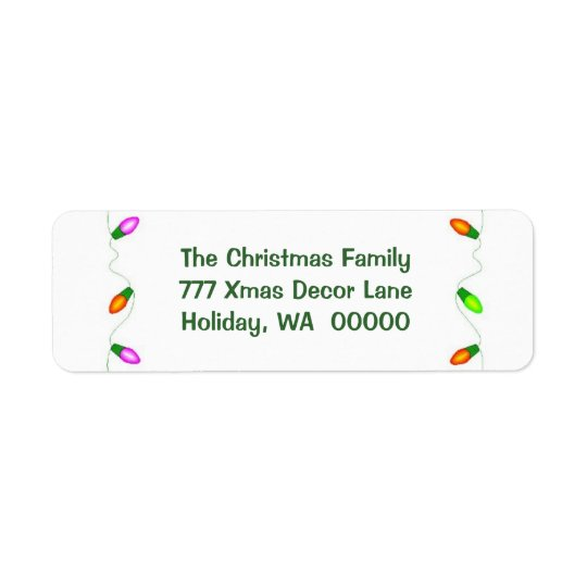 Make Your Own Christmas Envelope Address Labels