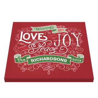 Make Your Own Christmas Typography Custom Banner Canvas Print