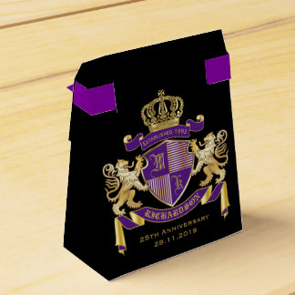 Make Your Own Coat of Arms Monogram Crown Emblem Favor Box