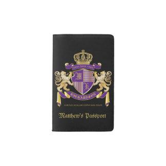 Make Your Own Coat of Arms Monogram Crown Emblem Pocket Moleskine Notebook