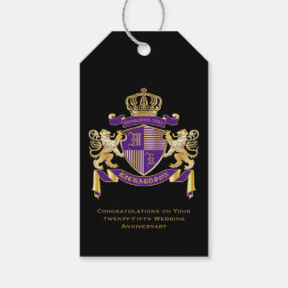 Make Your Own Coat of Arms Monogram Lion Emblem Gift Tags